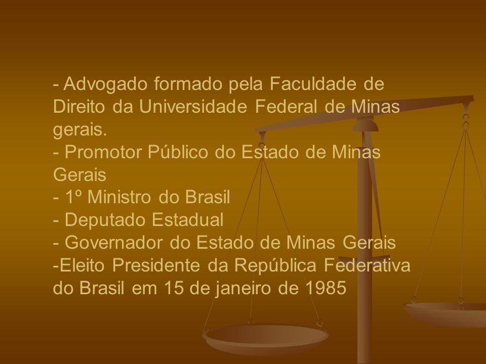 - Advogado formado pela Faculdade de Direito da Universidade Federal de Minas gerais.