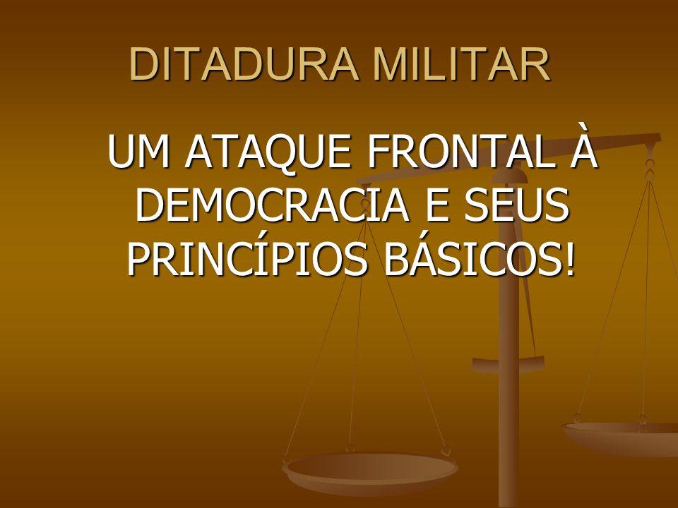 UM ATAQUE FRONTAL À DEMOCRACIA E SEUS PRINCÍPIOS BÁSICOS!