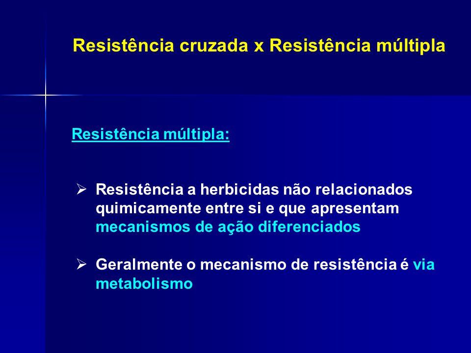 Resistência cruzada x Resistência múltipla