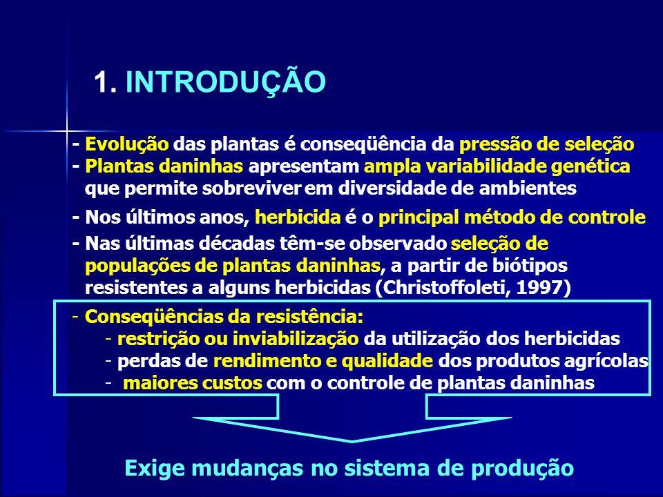 1. INTRODUÇÃO Exige mudanças no sistema de produção