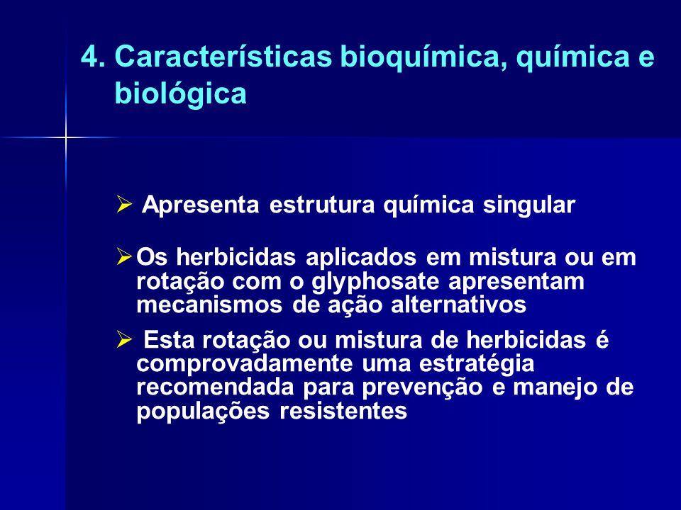 4. Características bioquímica, química e biológica