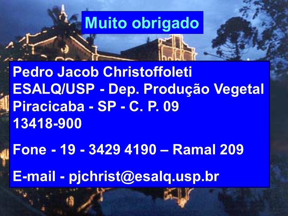 Muito obrigado Pedro Jacob Christoffoleti