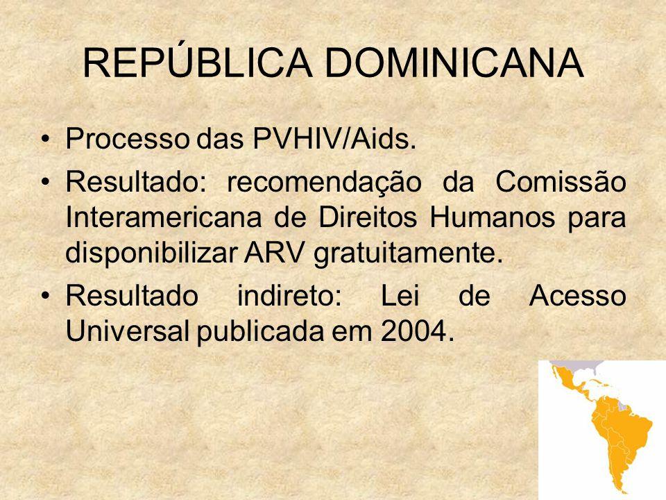 REPÚBLICA DOMINICANA Processo das PVHIV/Aids.