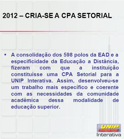2012 – CRIA-SE A CPA SETORIAL