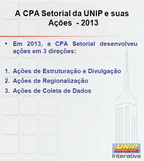 A CPA Setorial da UNIP e suas Ações - 2013
