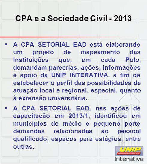 CPA e a Sociedade Civil - 2013