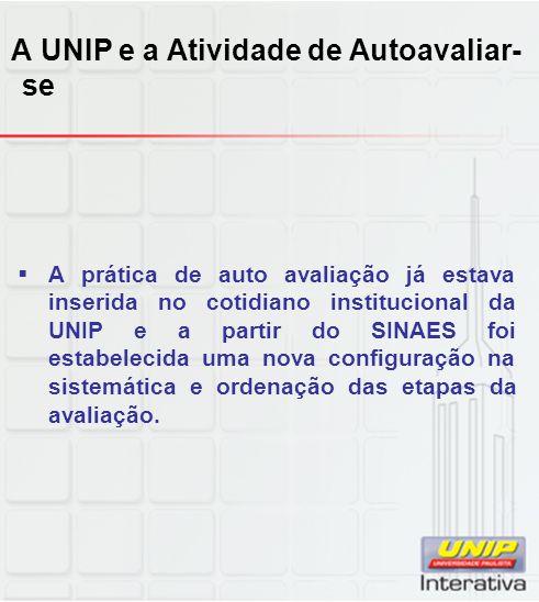 A UNIP e a Atividade de Autoavaliar-se