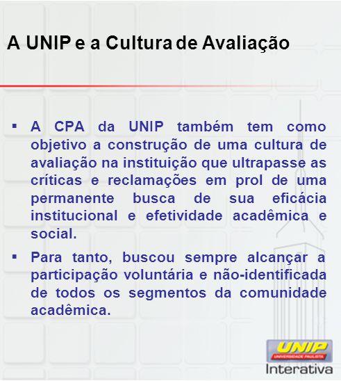 A UNIP e a Cultura de Avaliação