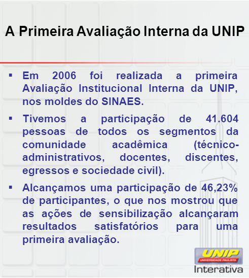 A Primeira Avaliação Interna da UNIP