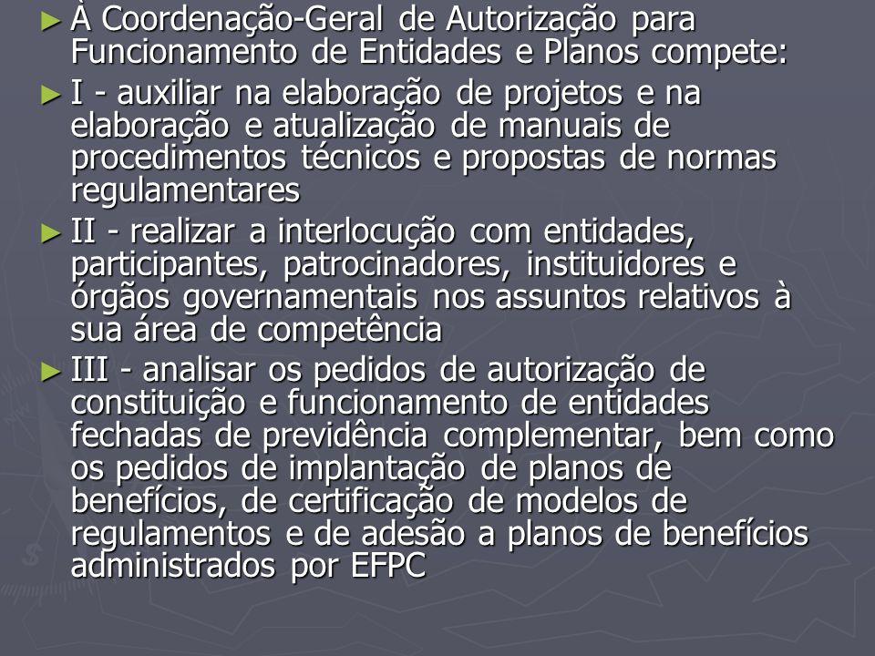 À Coordenação-Geral de Autorização para Funcionamento de Entidades e Planos compete: