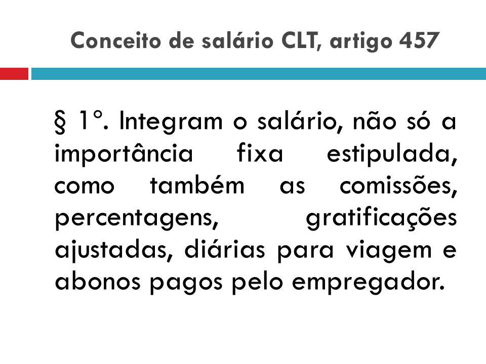 Conceito de salário CLT, artigo 457