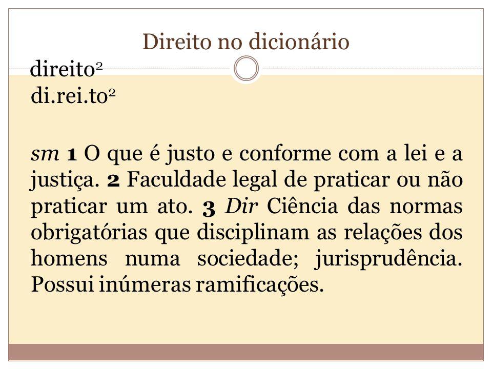 Direito no dicionário