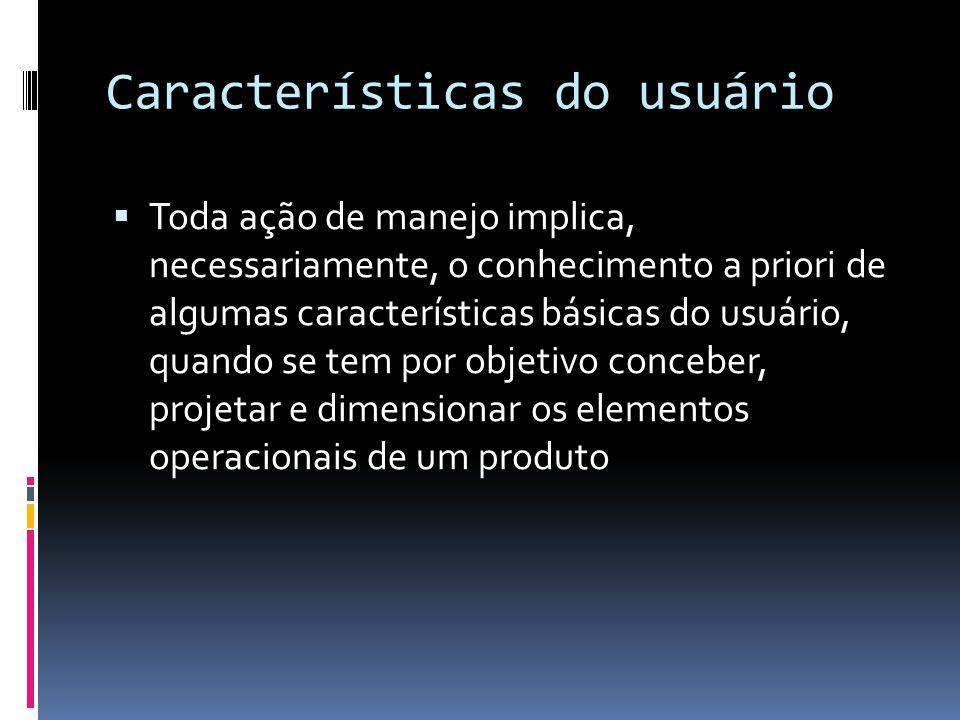 Características do usuário