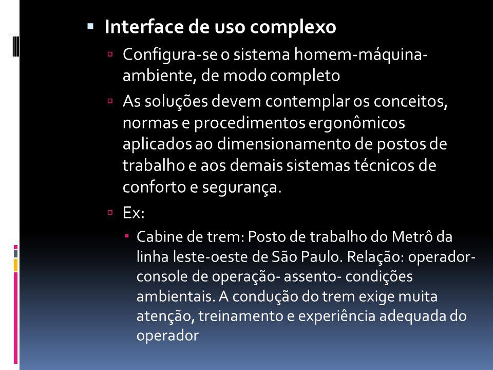 Interface de uso complexo