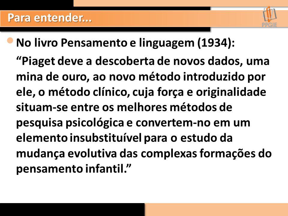 Para entender... No livro Pensamento e linguagem (1934):