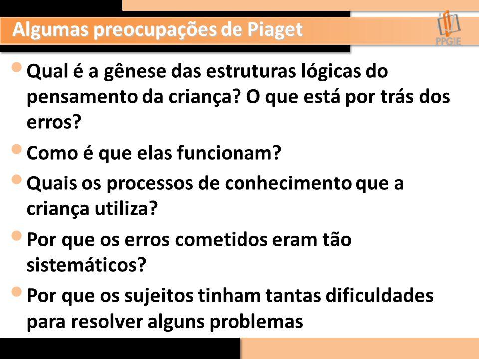 Algumas preocupações de Piaget