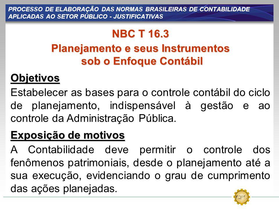 Planejamento e seus Instrumentos sob o Enfoque Contábil