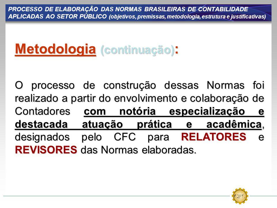 Metodologia (continuação):