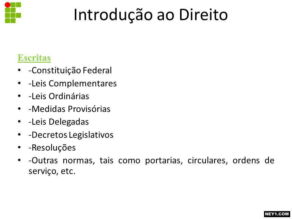 Introdução ao Direito Escritas -Constituição Federal