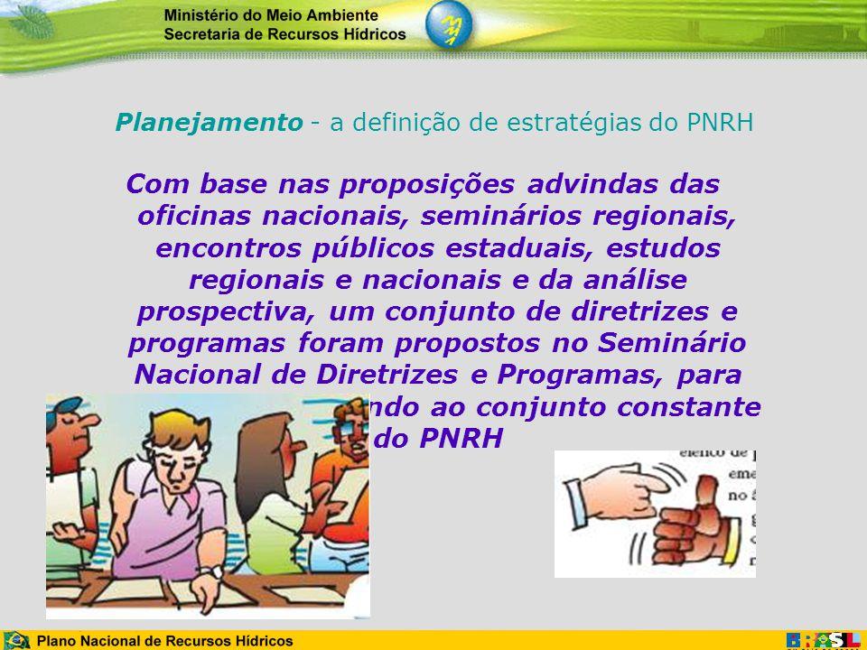 Planejamento - a definição de estratégias do PNRH