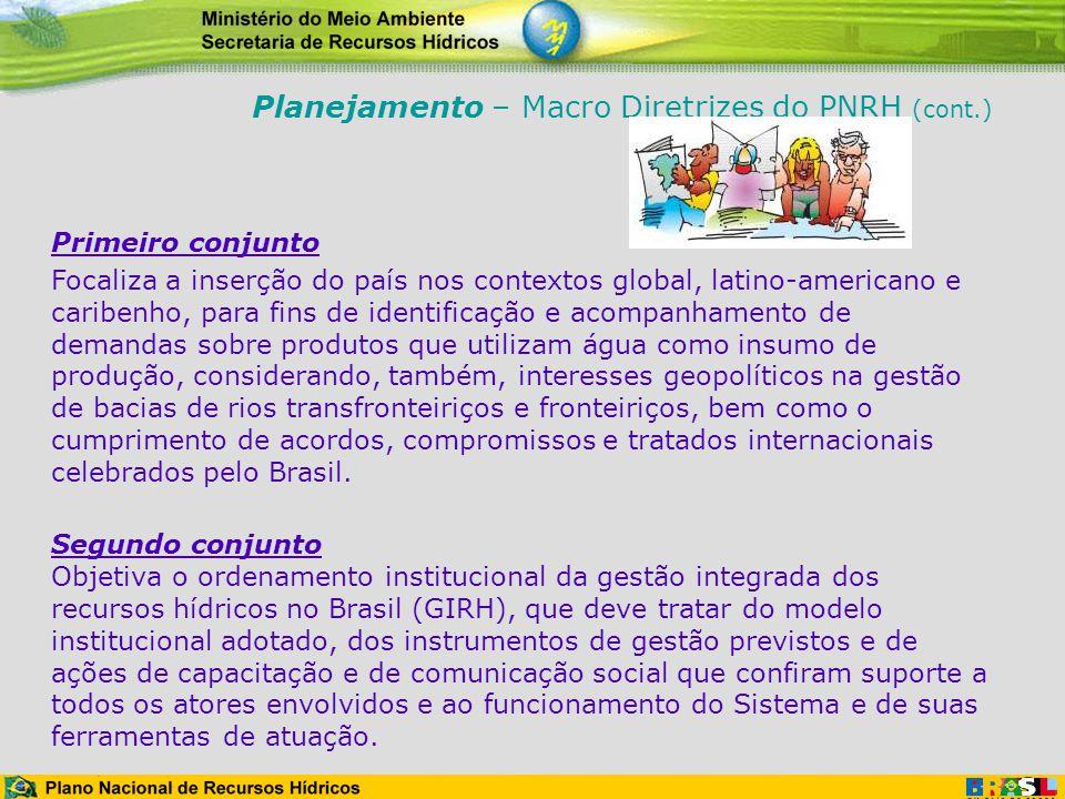 Planejamento – Macro Diretrizes do PNRH (cont.)