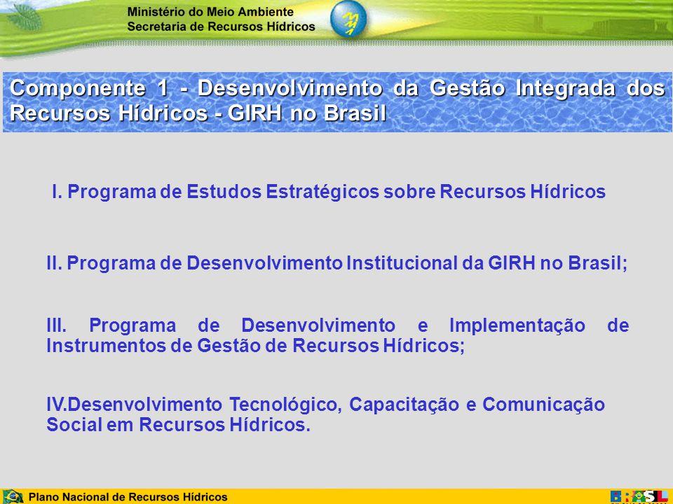 Componente 1 - Desenvolvimento da Gestão Integrada dos Recursos Hídricos - GIRH no Brasil