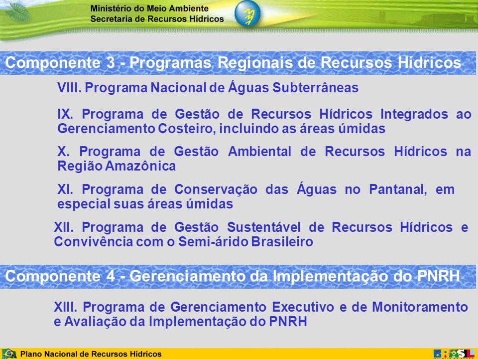 Componente 3 - Programas Regionais de Recursos Hídricos