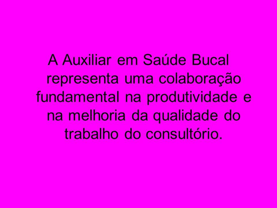 A Auxiliar em Saúde Bucal representa uma colaboração fundamental na produtividade e na melhoria da qualidade do trabalho do consultório.