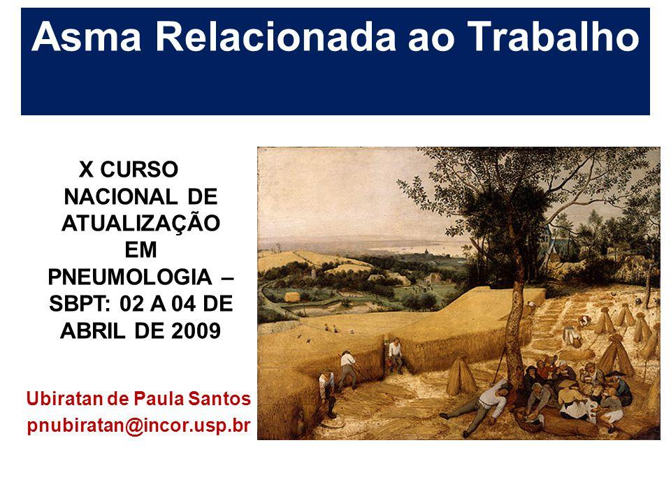 Asma Relacionada ao Trabalho Ubiratan de Paula Santos