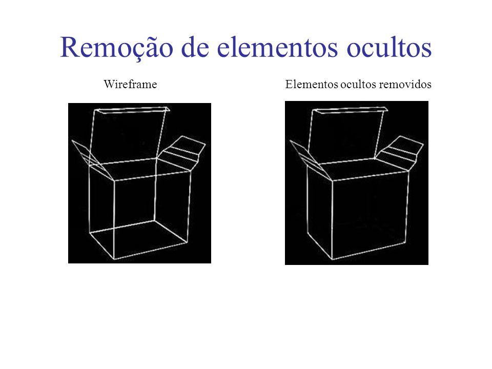 Remoção de elementos ocultos