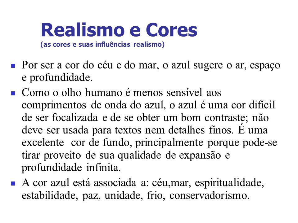 Realismo e Cores (as cores e suas influências realismo)