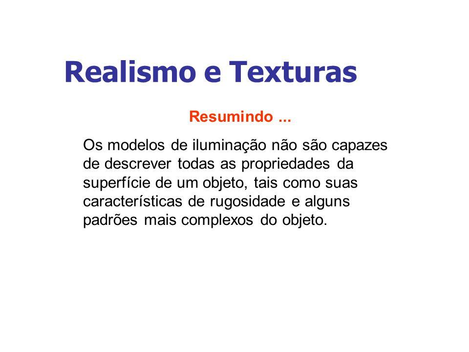 Realismo e Texturas Resumindo ...