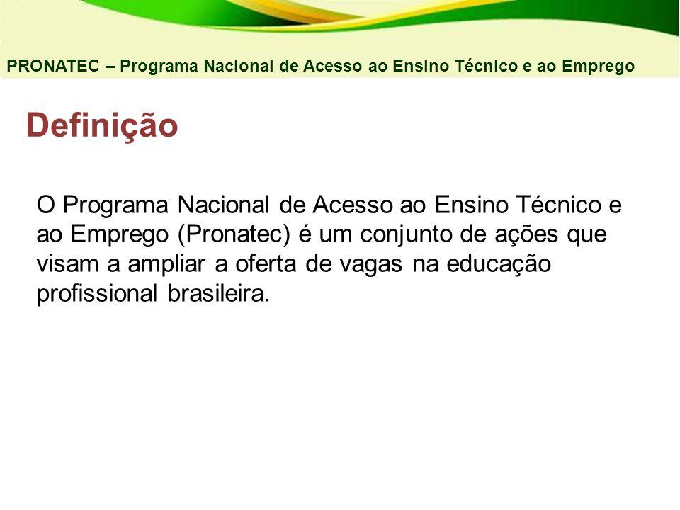 04/03/11 PRONATEC – Programa Nacional de Acesso ao Ensino Técnico e ao Emprego. Definição.