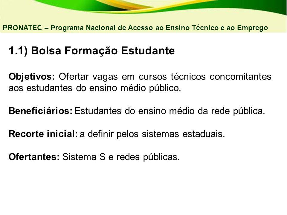 1.1) Bolsa Formação Estudante