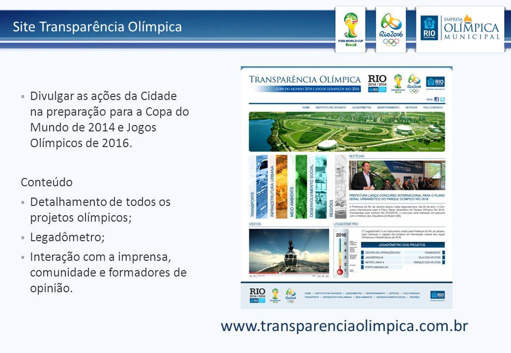 www.transparenciaolimpica.com.br Site Transparência Olímpica