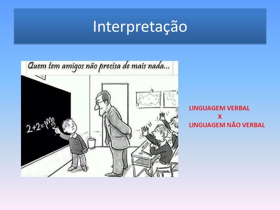 Interpretação LINGUAGEM VERBAL X LINGUAGEM NÃO VERBAL