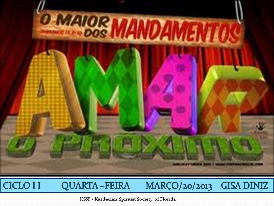 CICLO I I QUARTA –FEIRA MARÇO/20/2013 GISA DINIZ