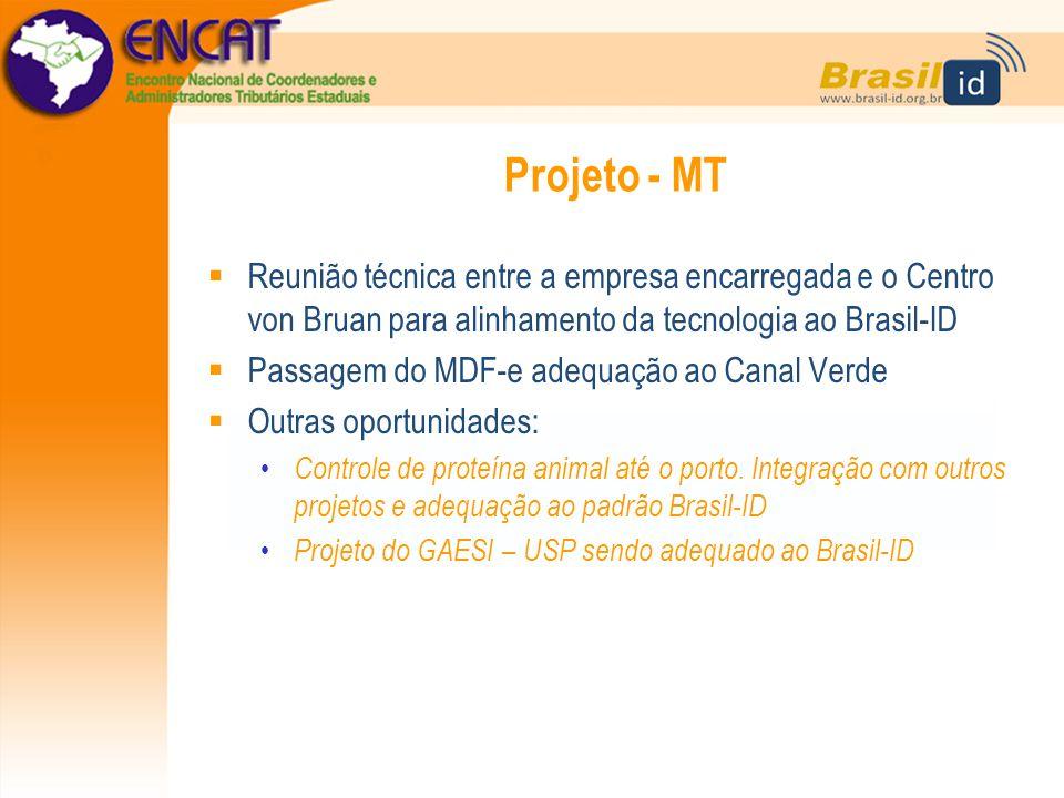 Projeto - MT Reunião técnica entre a empresa encarregada e o Centro von Bruan para alinhamento da tecnologia ao Brasil-ID.
