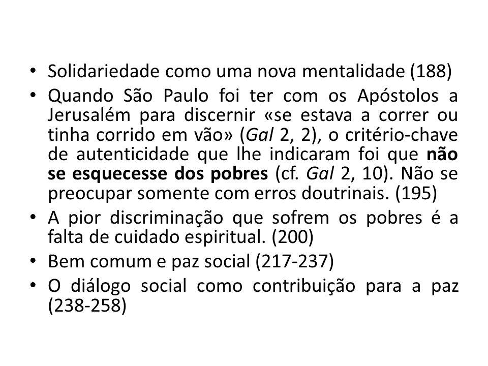 Solidariedade como uma nova mentalidade (188)