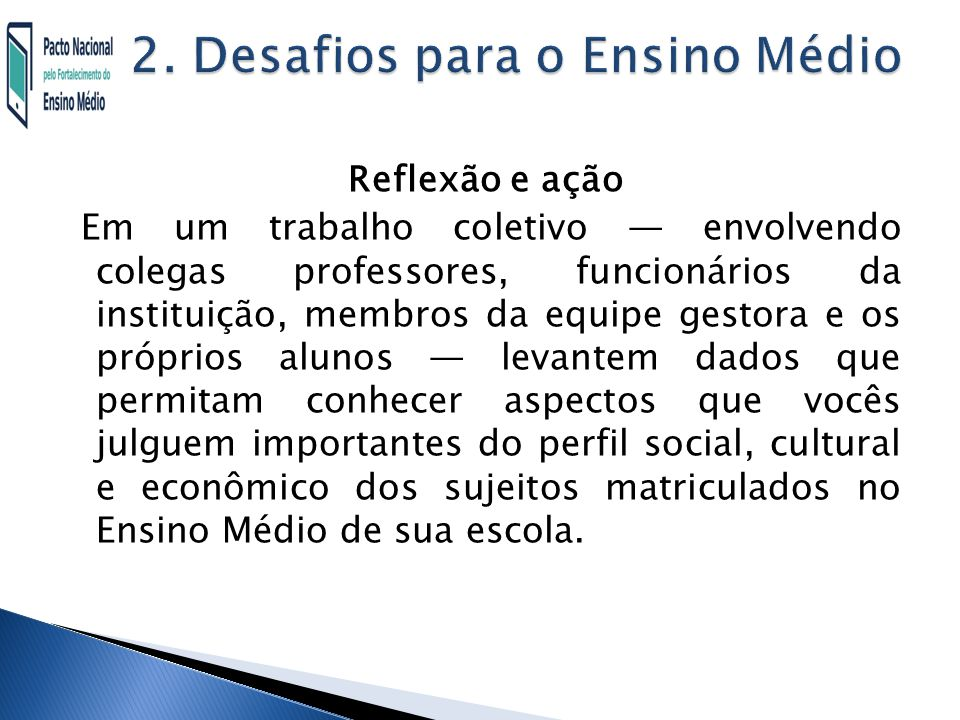 2. Desafios para o Ensino Médio