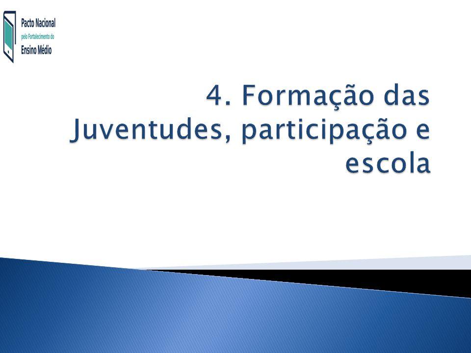 4. Formação das Juventudes, participação e escola