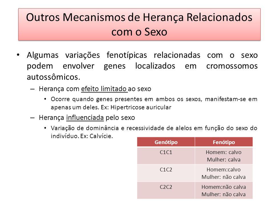 Outros Mecanismos de Herança Relacionados com o Sexo