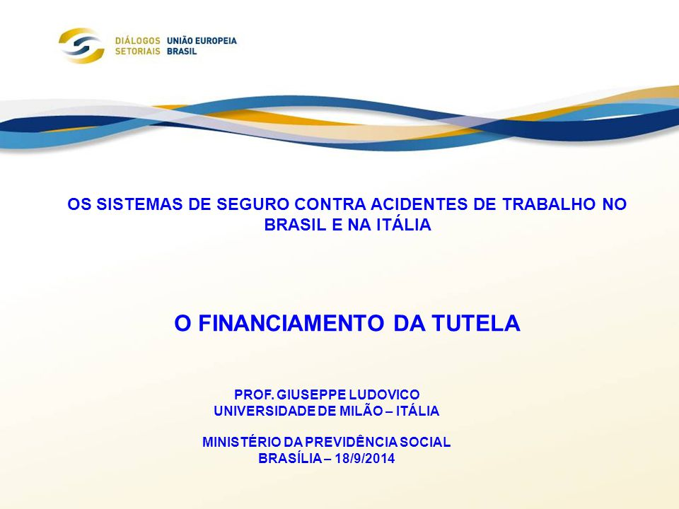 O FINANCIAMENTO DA TUTELA