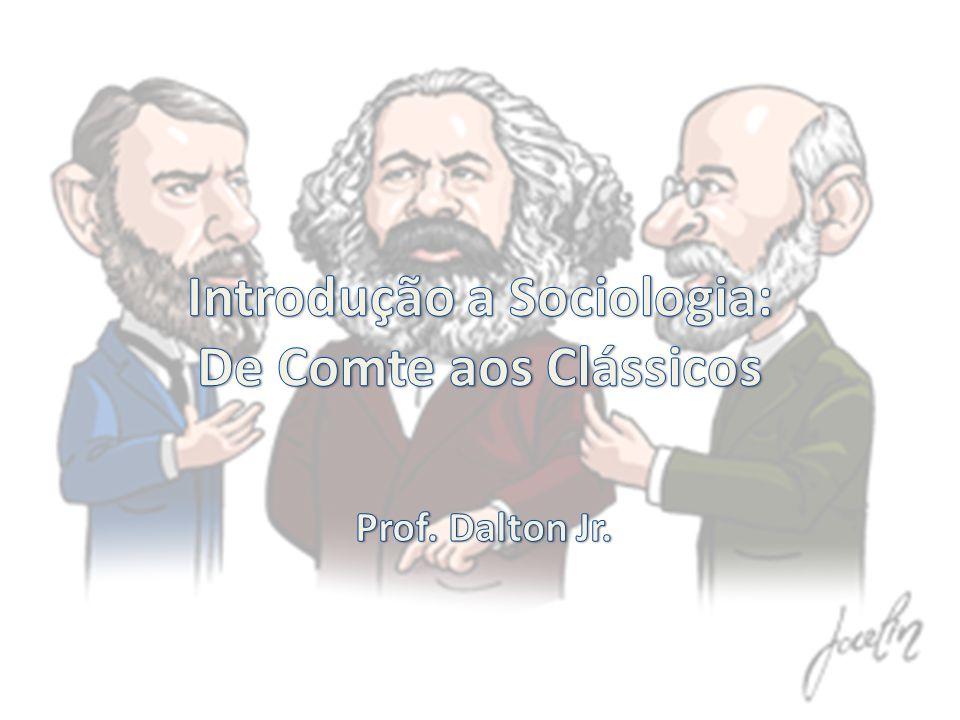 Introdução a Sociologia: De Comte aos Clássicos