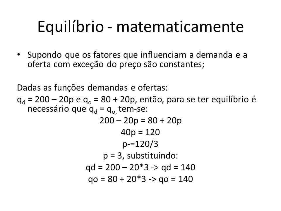 Equilíbrio - matematicamente
