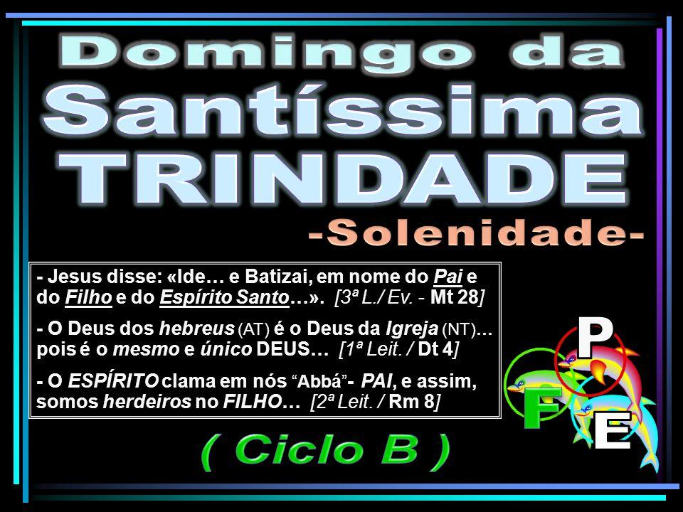 Domingo da Santíssima TRINDADE -Solenidade- P F E ( Ciclo B )