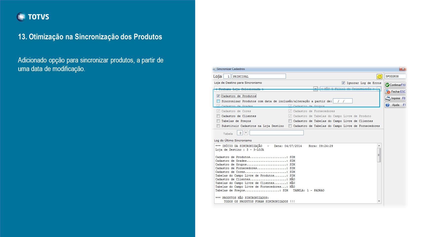 13. Otimização na Sincronização dos Produtos