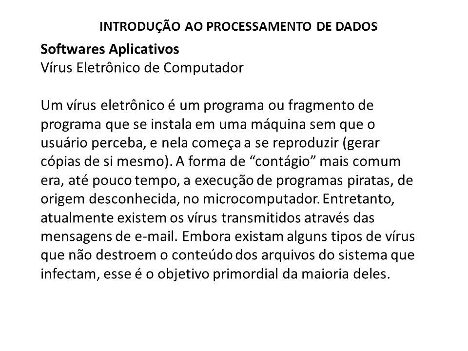 Softwares Aplicativos Vírus Eletrônico de Computador