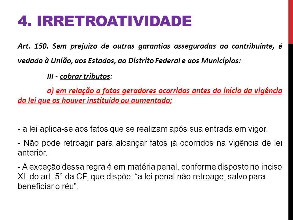 4. IRRETROATIVIDADE