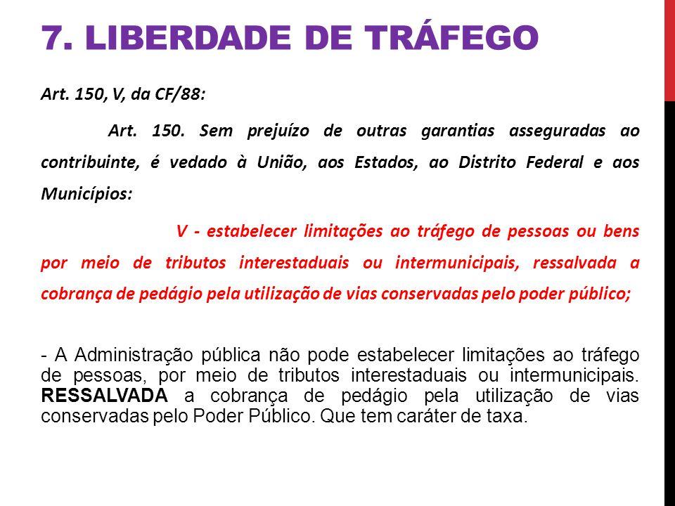 7. LIBERDADE DE TRÁFEGO